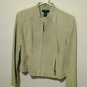 Sale-Petite suede jacket